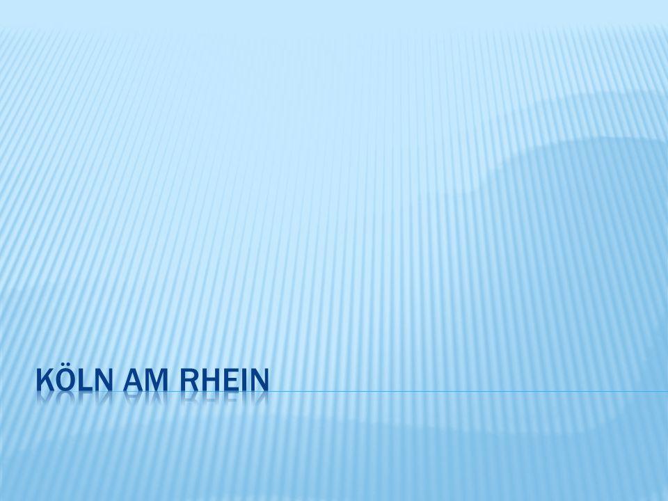  Köln am Rhein hat mehr als ein Million Einwohner  Köln liegt im Bundesland Nordrhein - Westfalen  Köln ist viertgrößte Stadt Deutschlands  Sie wurde in römischer Zeit unter dem Namen Oppidum Ubiorum gegründet  Köln besitzt als Wirtschafts- und Kulturmetropole internationale Bedeutung und gilt als eines der führenden Zentren für den weltweiten Kunsthandel