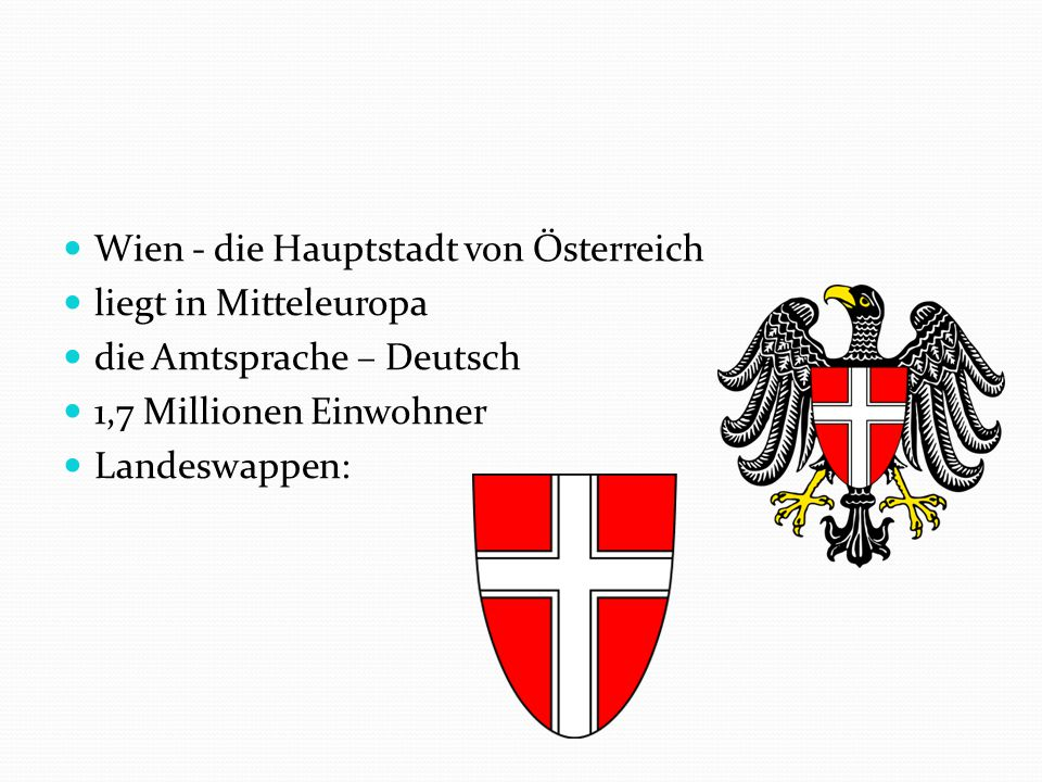Použité zdroje: http://upload.wikimedia.org/wikipedia/commons/thumb/0/03/Wien_3_Wappen.svg/607px- Wien_3_Wappen.svg.png http://upload.wikimedia.org/wikipedia/commons/thumb/b/b4/Wien_Wappen.svg/200px-Wien_Wappen.svg.png http://upload.wikimedia.org/wikipedia/commons/3/31/Vienna_-_Donaukanal.JPG http://upload.wikimedia.org/wikipedia/commons/8/85/Franz_joseph1.jpg http://upload.wikimedia.org/wikipedia/commons/thumb/9/91/Wien_Stefansdom_DSC02656.JPG/450px- Wien_Stefansdom_DSC02656.JPG http://upload.wikimedia.org/wikipedia/commons/thumb/9/97/Sch%C3%B6nbrunnPalace.jpg/800px- Sch%C3%B6nbrunnPalace.jpg http://upload.wikimedia.org/wikipedia/commons/a/a1/WienHofburg2.jpg http://upload.wikimedia.org/wikipedia/commons/thumb/e/e5/Mariahilfer_Stra%C3%9Fe_70_I.jpg/800px- Mariahilfer_Stra%C3%9Fe_70_I.jpg http://upload.wikimedia.org/wikipedia/commons/thumb/2/20/StateOperaViennaNightBackside.jpg/800px- StateOperaViennaNightBackside.jpg http://upload.wikimedia.org/wikipedia/commons/thumb/9/9d/Wiener_Riesenrad_DSC02378.JPG/720px- Wiener_Riesenrad_DSC02378.JPG http://upload.wikimedia.org/wikipedia/commons/thumb/a/ae/Wiener-Schnitzel02.jpg/800px-Wiener- Schnitzel02.jpg http://upload.wikimedia.org/wikipedia/commons/thumb/b/b8/Sachertorte_DSC03027.JPG/800px- Sachertorte_DSC03027.JPG http://upload.wikimedia.org/wikipedia/commons/thumb/4/49/Letadlo_Spojen%C3%BDch_arabsk%C3%BDch_emir %C3%A1t%C5%AF.jpg/800px-Letadlo_Spojen%C3%BDch_arabsk%C3%BDch_emir%C3%A1t%C5%AF.jpg