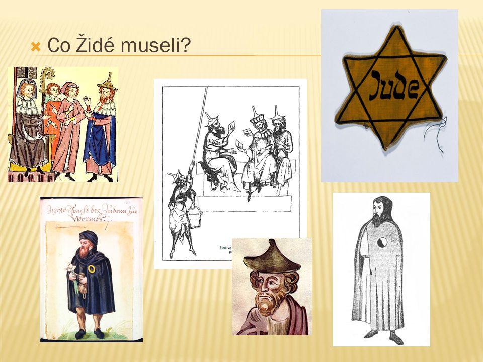  Co Židé museli