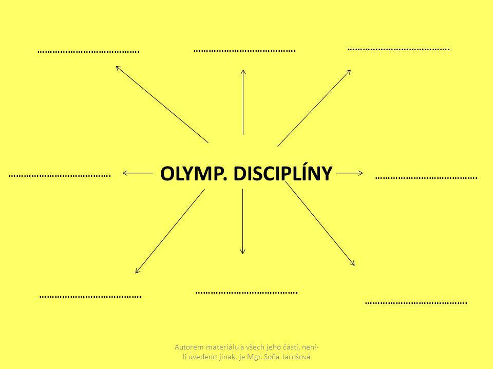 OLYMP. DISCIPLÍNY ………………………………….