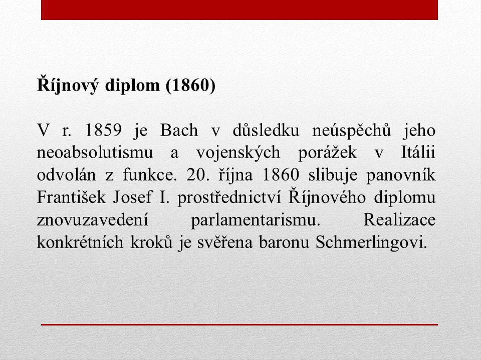 Říjnový diplom (1860) V r.