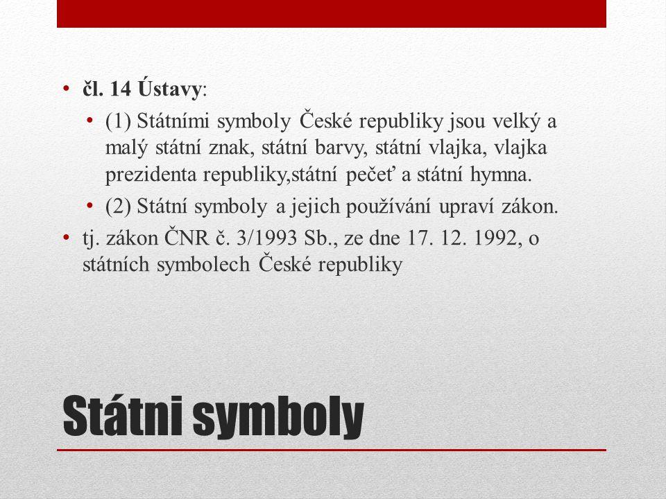 Státni symboly čl.