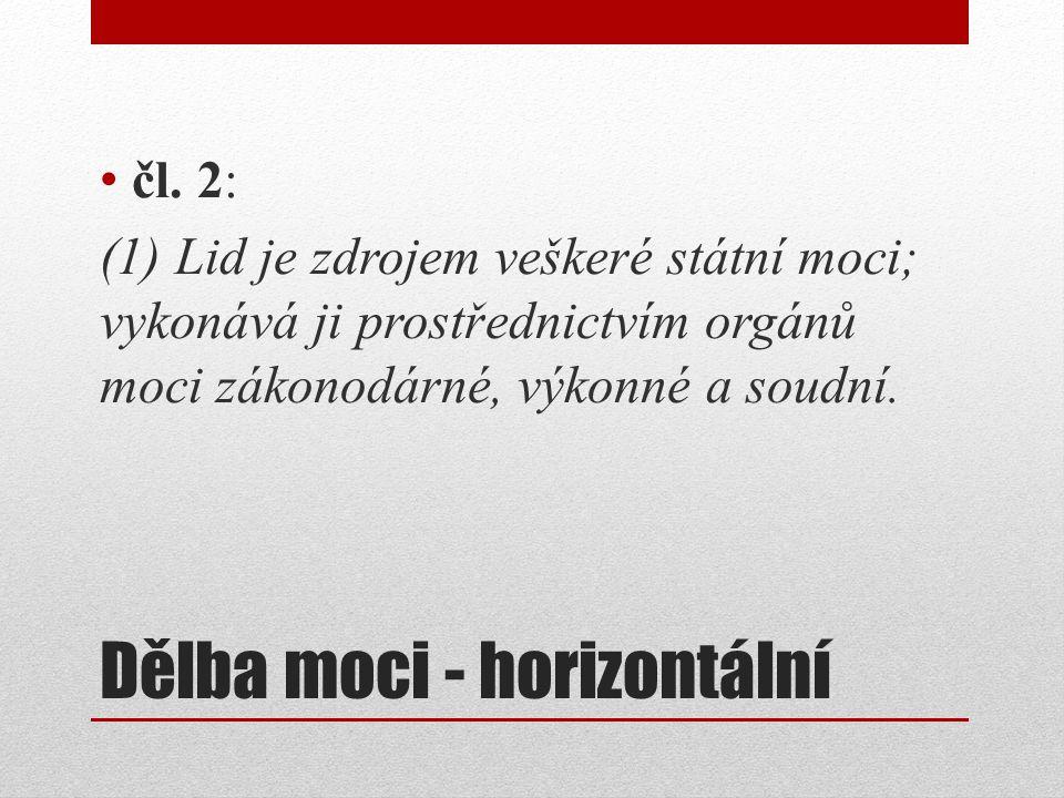 Dělba moci - horizontální čl.