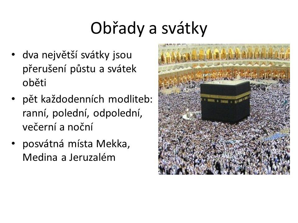 Zdroje http://cs.wikipedia.org/ http://www.svetova-nabozenstvi.cz/islam/ http://lide.gymcheb.cz/~zasturc/nab/islam.html http://islamdnes.weebly.com/co-je-to-islaacutem.html http://zpravy.idnes.cz/mistni-muslimove-s-nami-maji- svatou-trpelivost-f58- /domaci.aspx?c=A080325_194103_nazory_zra https://opickai.signaly.cz/0906/islam http://www.hks.re/domains/hks.re/wiki1/lib/exe/detail.p hp?id=islam2012_syrie&media=a_spa-katala:indian- muslims-praying-.jpg http://fotky.sme.sk/fotka/52604/mesita-skalny-dom-na- chramovej-hore-v-jeruzaleme