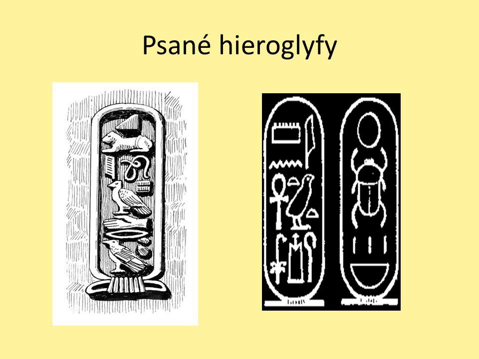 Psané hieroglyfy