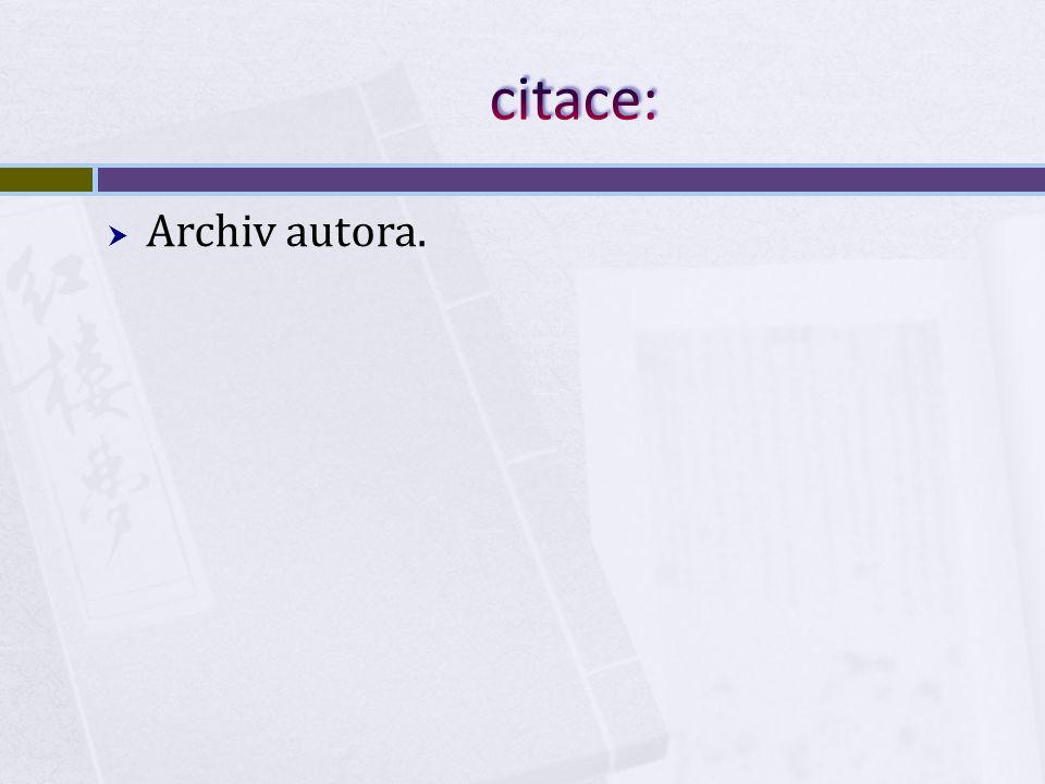  Archiv autora.