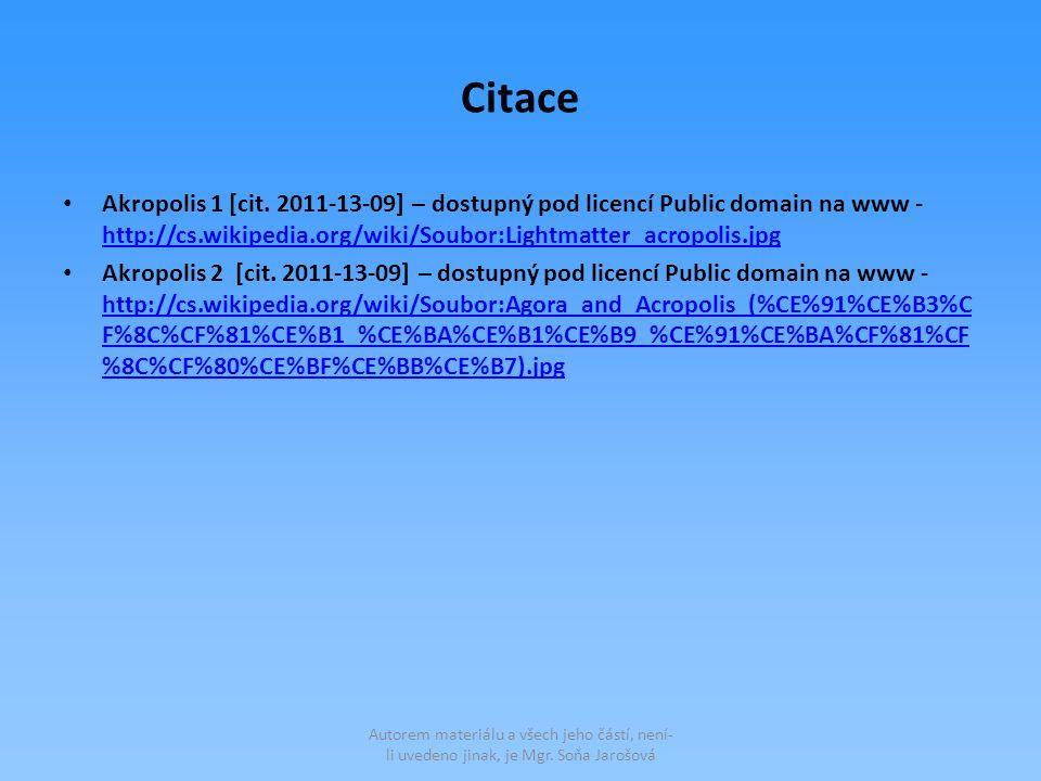 Citace Akropolis 1 [cit.