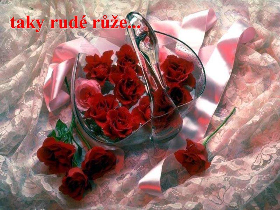 taky rudé růže...
