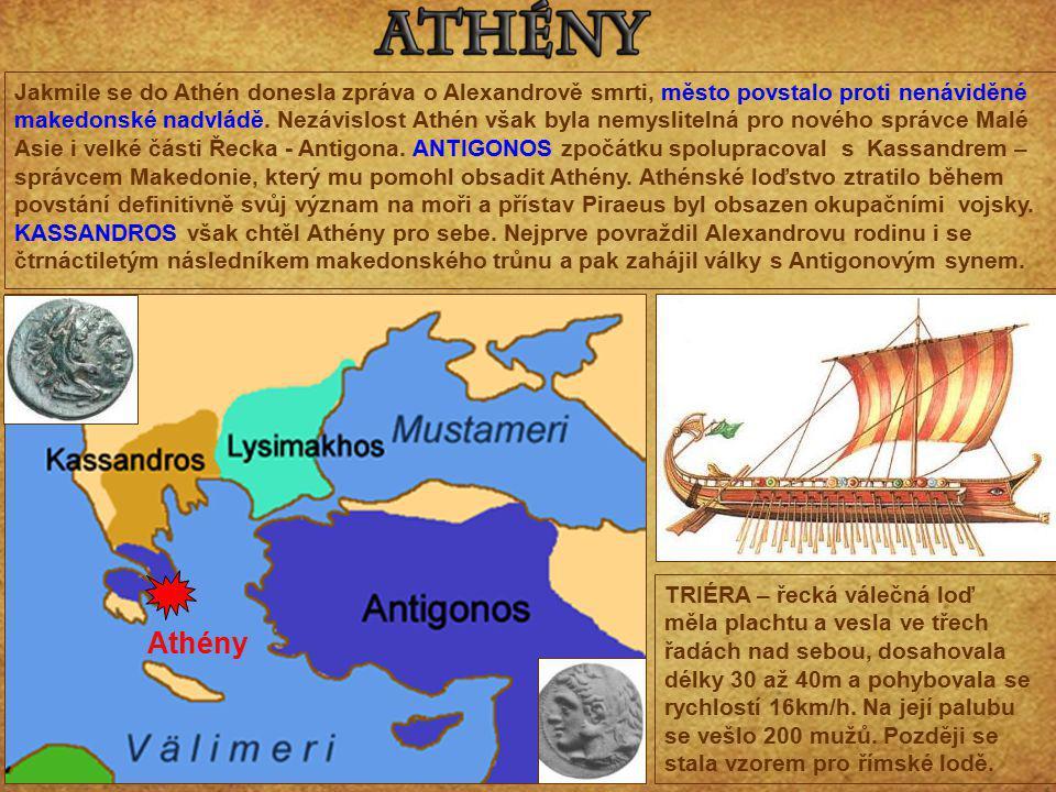 Jakmile se do Athén donesla zpráva o Alexandrově smrti, město povstalo proti nenáviděné makedonské nadvládě. Nezávislost Athén však byla nemyslitelná