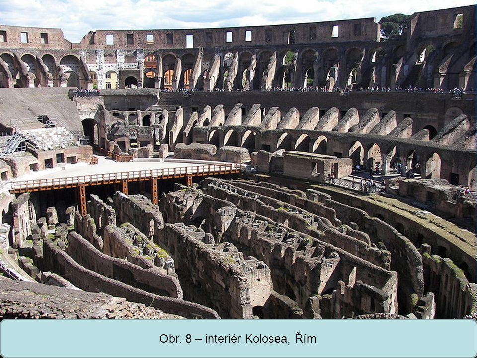 Střední škola Oselce Obr. 8 – interiér Kolosea, Řím