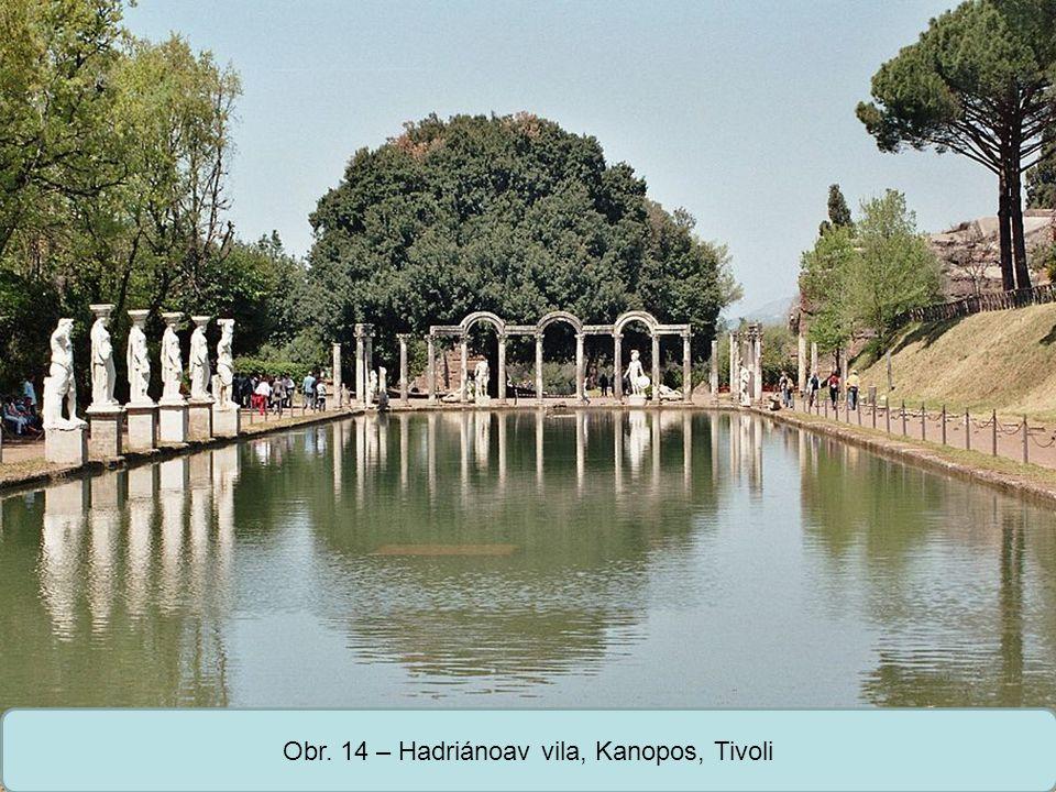 Střední škola Oselce Obr. 14 – Hadriánoav vila, Kanopos, Tivoli