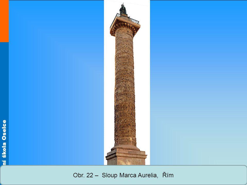 Střední škola Oselce Obr. 22 – Sloup Marca Aurelia, Řím