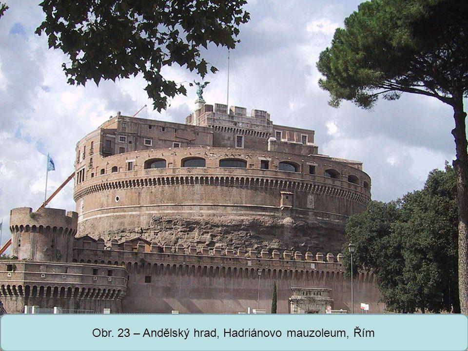 Střední škola Oselce Obr. 23 – Andělský hrad, Hadriánovo mauzoleum, Řím