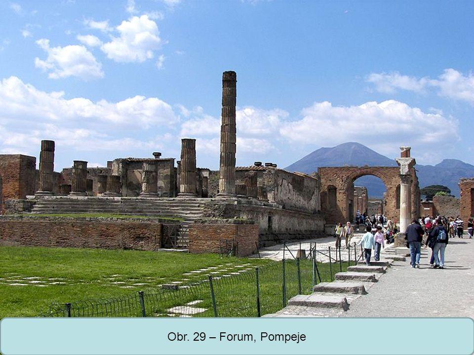 Střední škola Oselce Obr. 29 – Forum, Pompeje