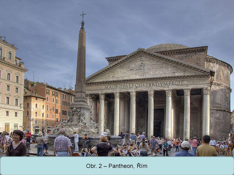 Střední škola Oselce Obr. 3 – řez Pantheonem, Řím