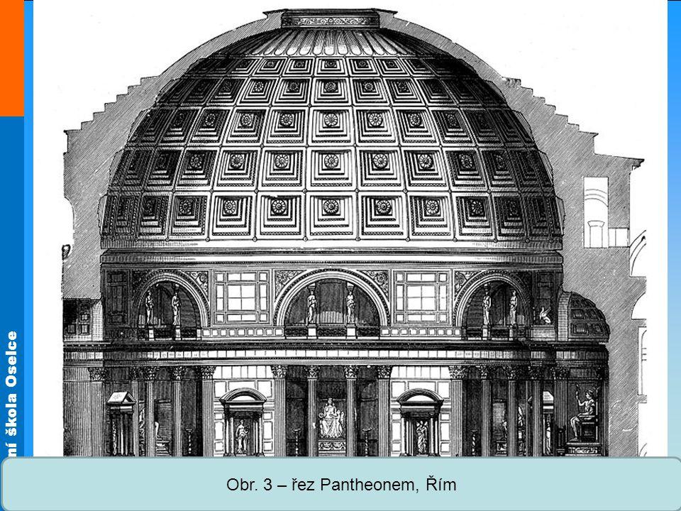 Střední škola Oselce Obr. 4 – půdorys Pantheonu, Řím
