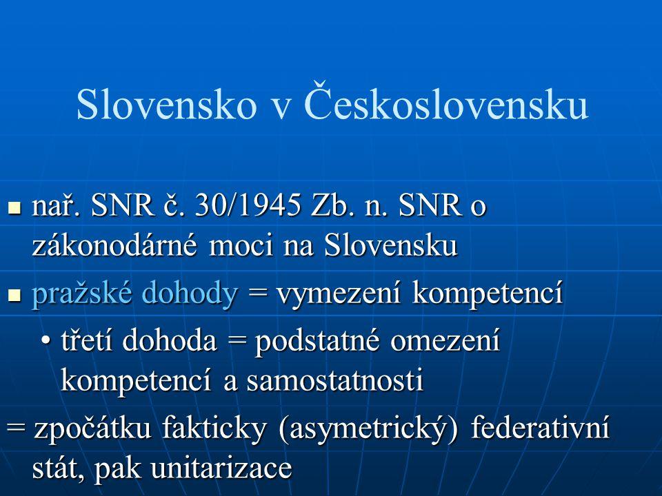 Slovensko v Československu nař. SNR č. 30/1945 Zb.