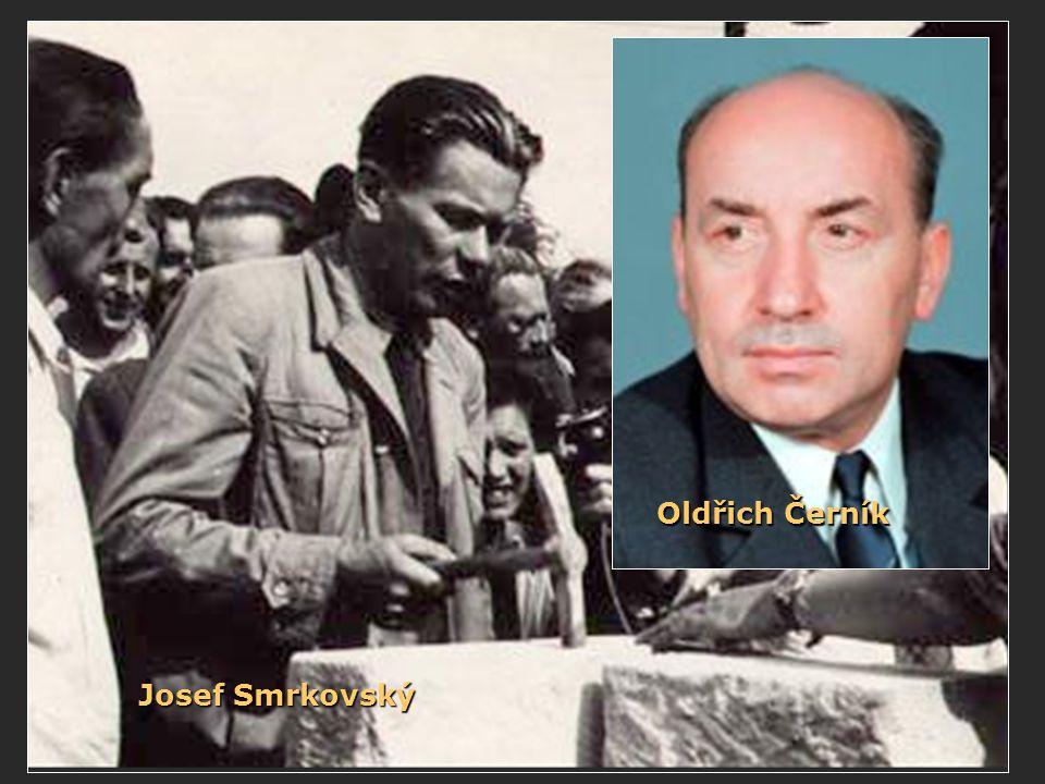 Oldřich Černík Josef Smrkovský