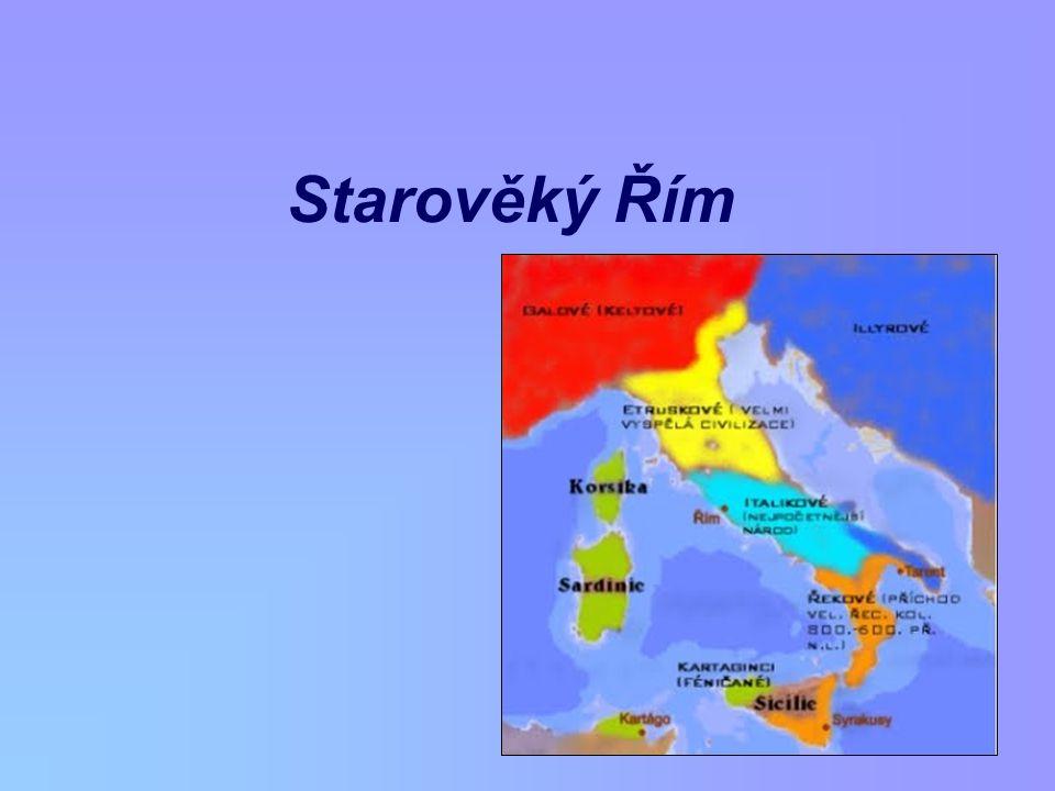 Ovládnutí Itálie od počátku existence státu – války postupné ovládnutí Latia, Etrurie, italických kmenů, řeckých měst (Tarent – Pyrrhovo vítězství) 265 př.