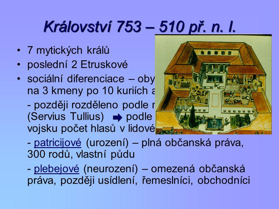 Království 753 – 510 př.n. l.