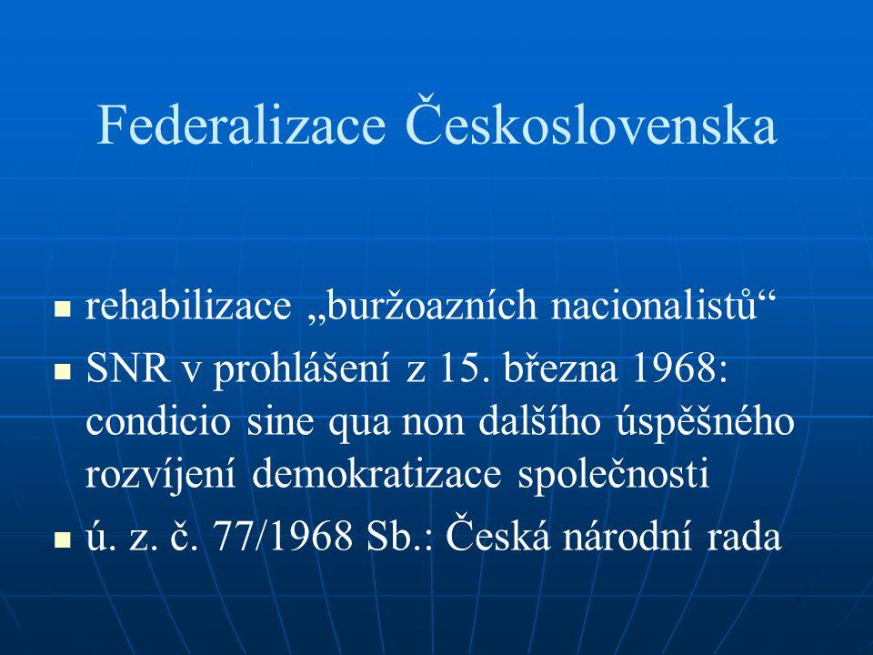 """Federalizace Československa rehabilizace """"buržoazních nacionalistů"""" SNR v prohlášení z 15. března 1968: condicio sine qua non dalšího úspěšného rozvíj"""