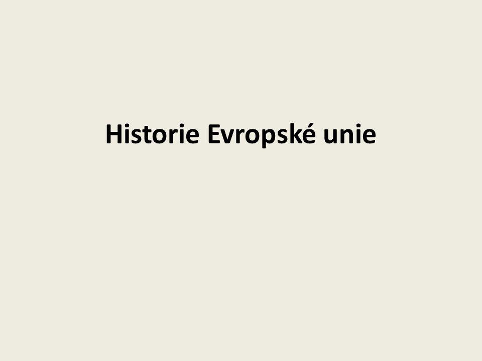 Historie Evropské unie