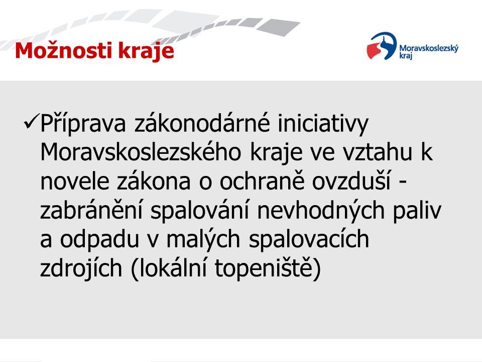 Možnosti kraje Příprava zákonodárné iniciativy Moravskoslezského kraje ve vztahu k novele zákona o ochraně ovzduší - zabránění spalování nevhodných pa