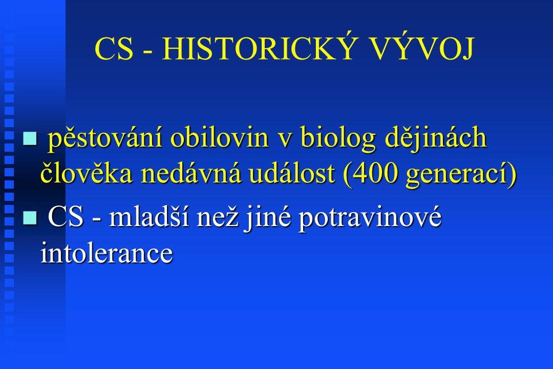 CS - HISTORICKÝ VÝVOJ pěstování obilovin v biolog dějinách člověka nedávná událost (400 generací) pěstování obilovin v biolog dějinách člověka nedávná