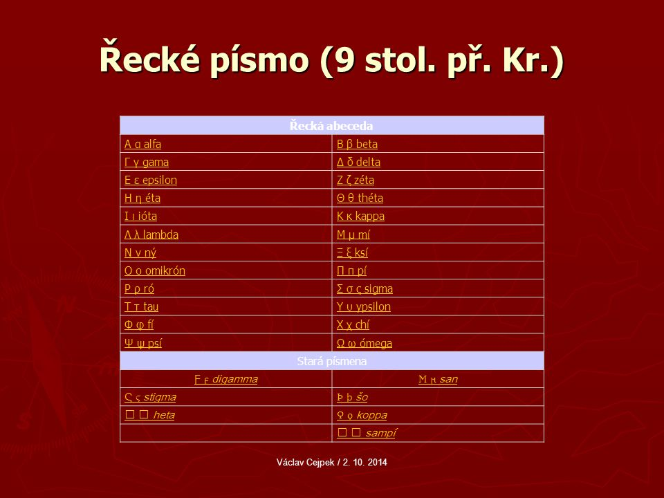 Řecké písmo (9 stol.př.