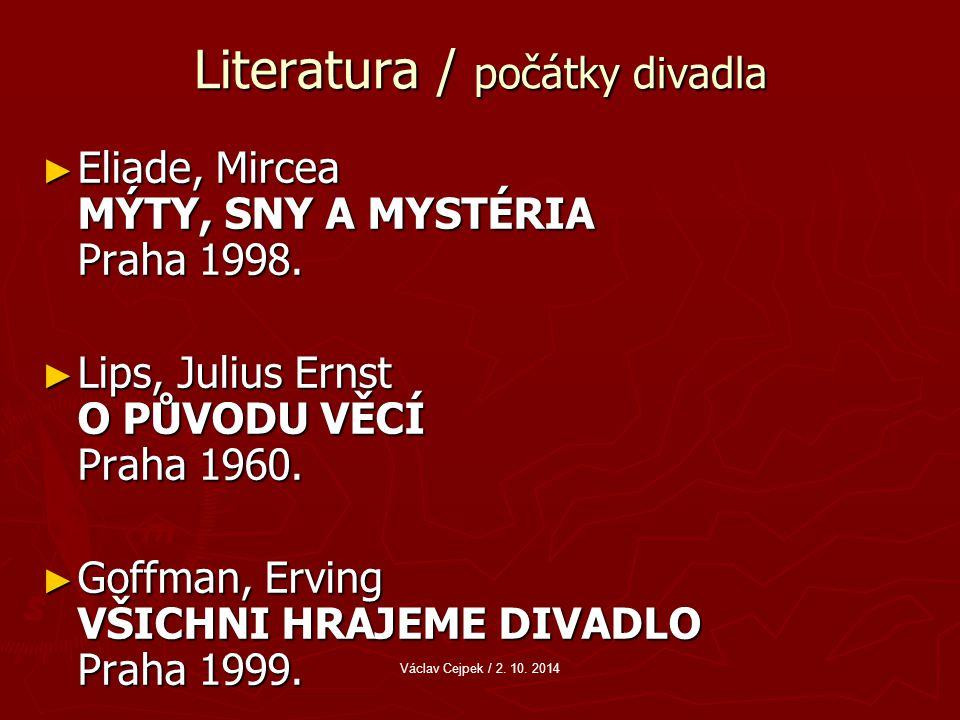 Literatura / počátky divadla ► Eliade, Mircea MÝTY, SNY A MYSTÉRIA Praha 1998.