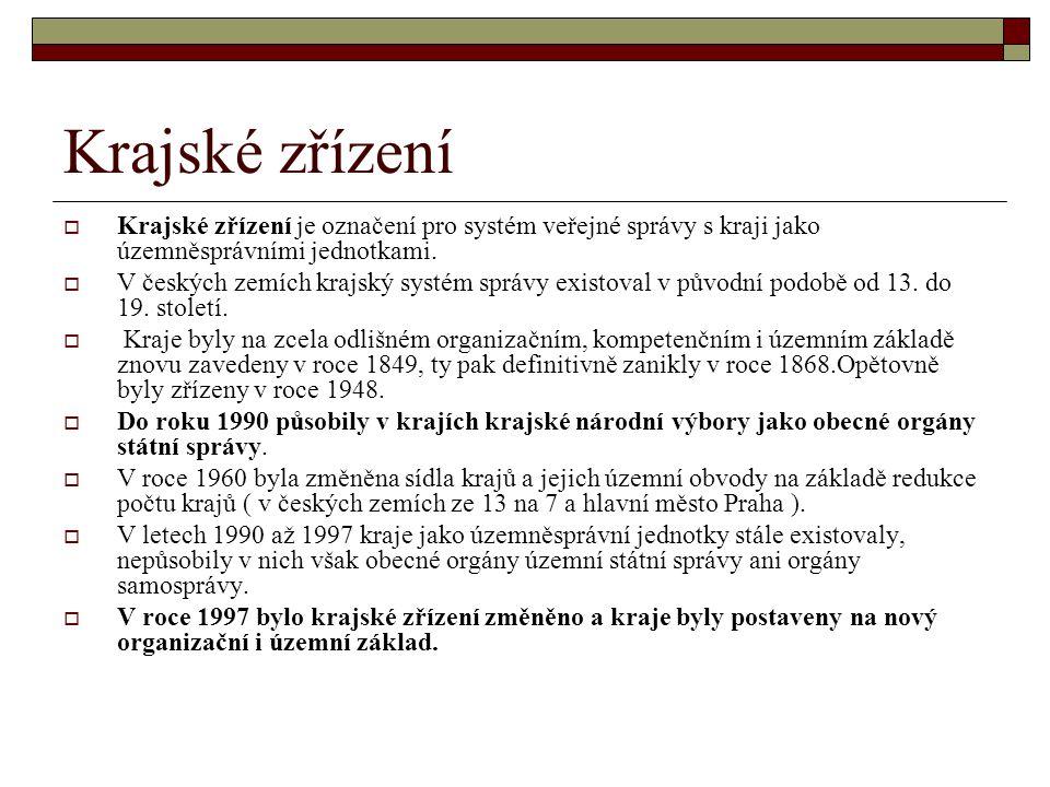 Krajské zřízení  Krajské zřízení je označení pro systém veřejné správy s kraji jako územněsprávními jednotkami.  V českých zemích krajský systém spr