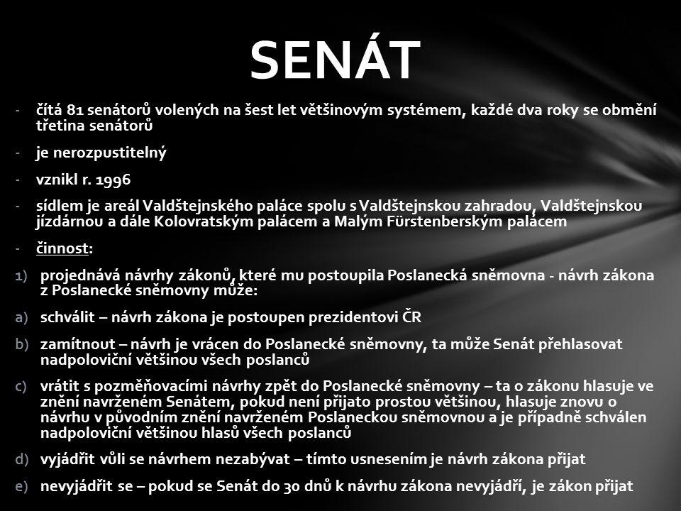 -čítá 81 senátorů volených na šest let většinovým systémem, každé dva roky se obmění třetina senátorů -je nerozpustitelný -vznikl r. 1996 -sídlem je a