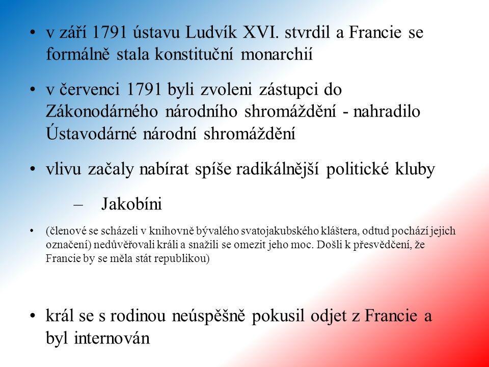 v září 1791 ústavu Ludvík XVI.