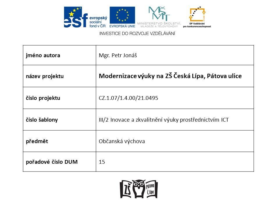 Anotace Prezentace seznamuje se základním zákonem našeho státu, Ústavou České republiky.