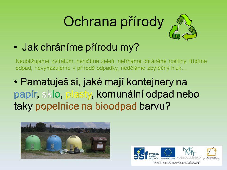 Ochrana přírody Jak chráníme přírodu my.