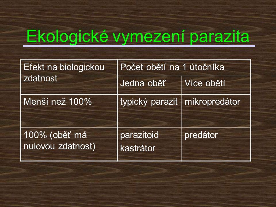 Hlavní rozdíl mezi predátorem a parazitem nutnost dlouhodobé koexistence nutnost obrany proti imunitnímu systému