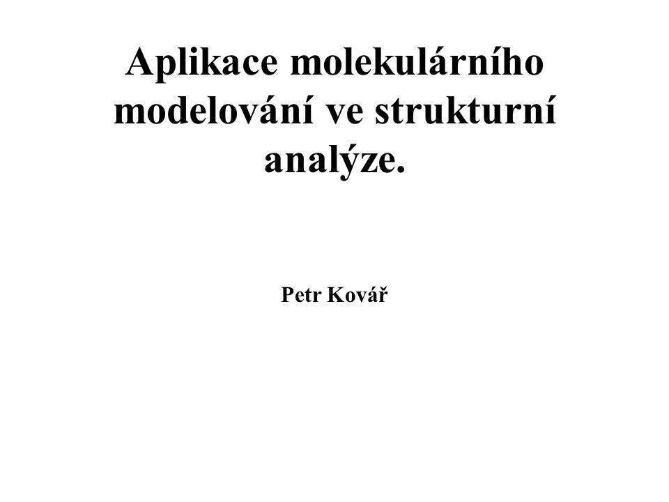 Motivace Vlastnosti molekul a krystalů (stabilita, mechanické vlastnosti, hustota, IR spektra, RTG spektra) souvisí se strukturou.