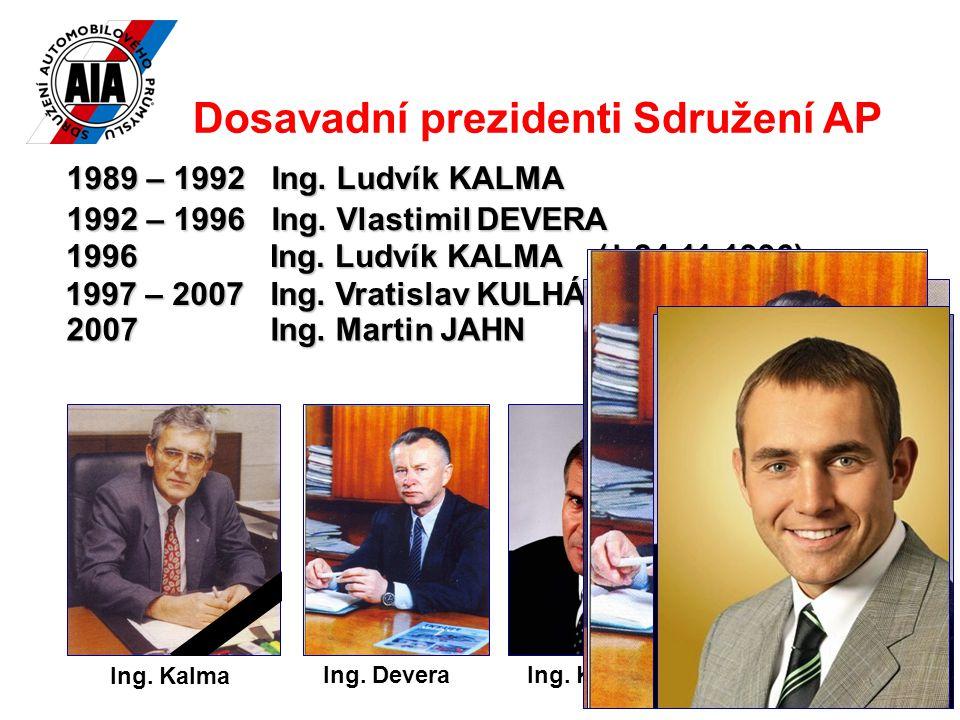 11 Ing. KulhánekIng. DeveraIng. Jahn Dosavadní prezidenti Sdružení AP 1989 – 1992 Ing.