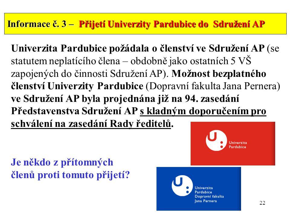 22 Informace č.