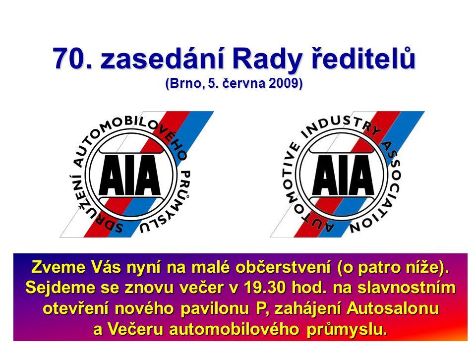 70. zasedání Rady ředitelů (Brno, 5.