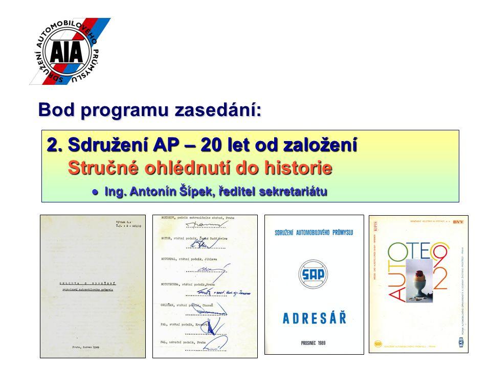 6 27.6.1989 – založeno27.6.1989 – založeno Sdružení organizací automobilového průmyslu (SOAP) Sdružení organizací automobilového průmyslu (SOAP) 17 zakládajících organizací: AUTOBRZDY n.
