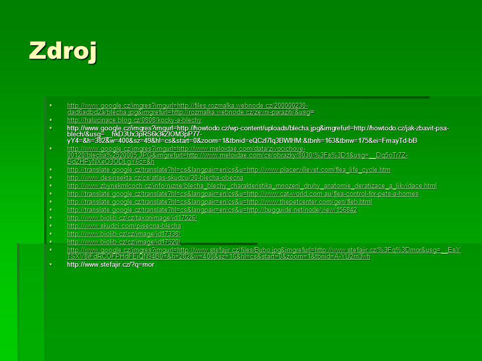 Zdroj  http://www.google.cz/imgres?imgurl=http://files.rozmalka.webnode.cz/200000230- dad6adbd2a/blecha.jpg&imgrefurl=http://rozmalka.webnode.cz/zevn