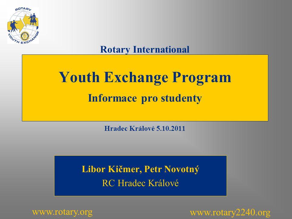 Program přednášky Co je to Rotary .