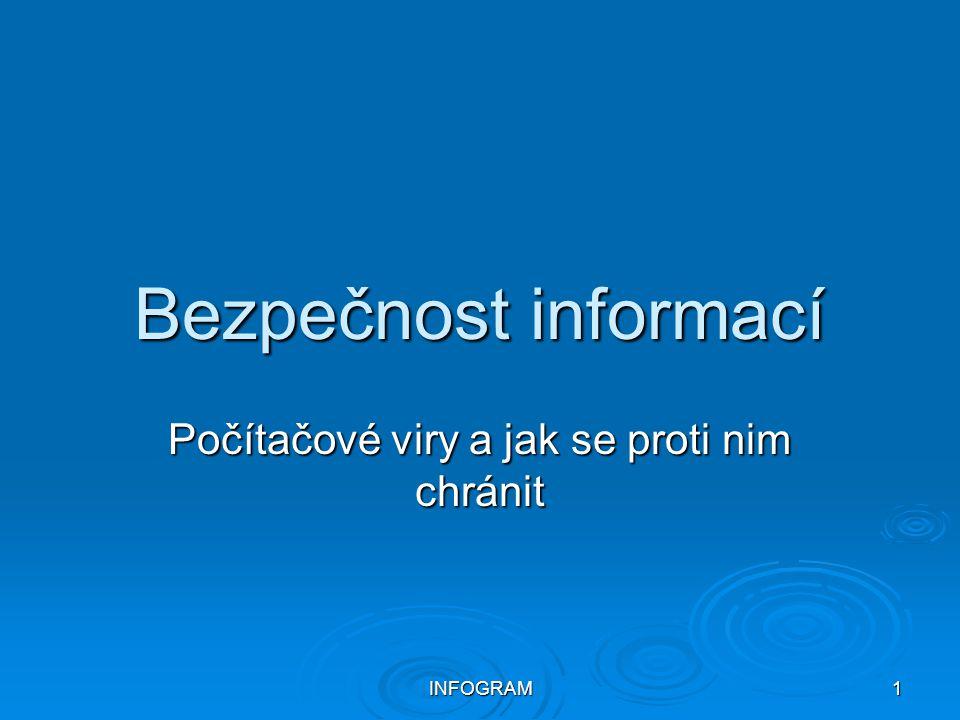 INFOGRAM1 Bezpečnost informací Počítačové viry a jak se proti nim chránit