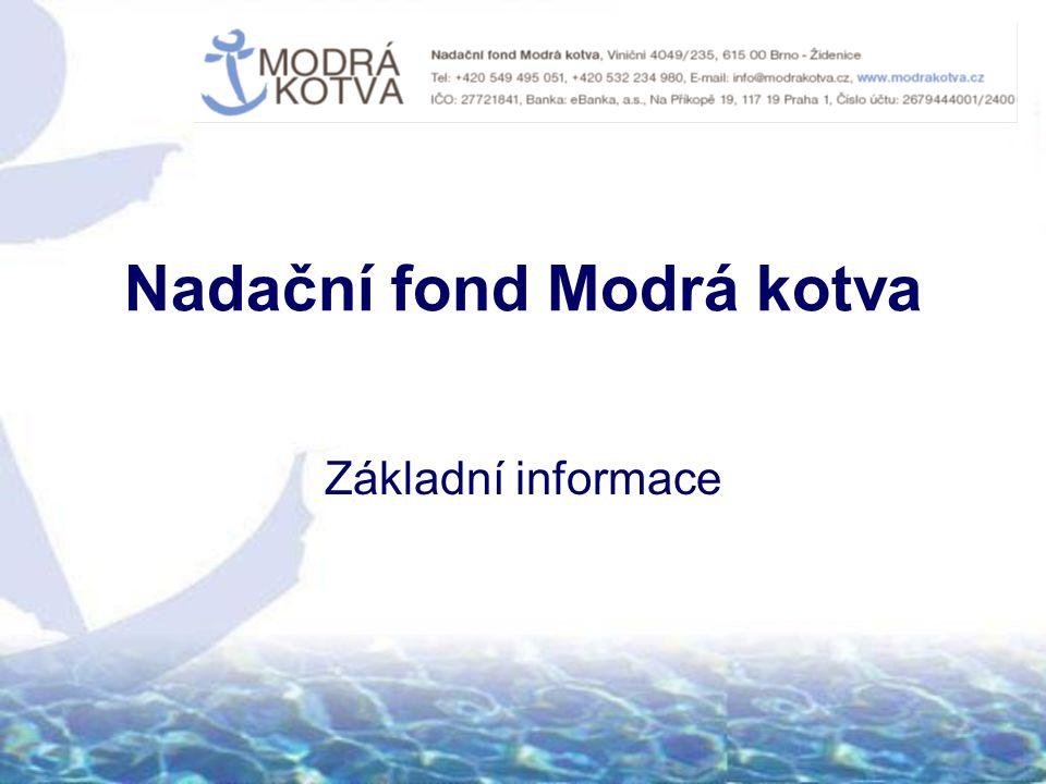 Nadační fond Modrá kotva Základní informace