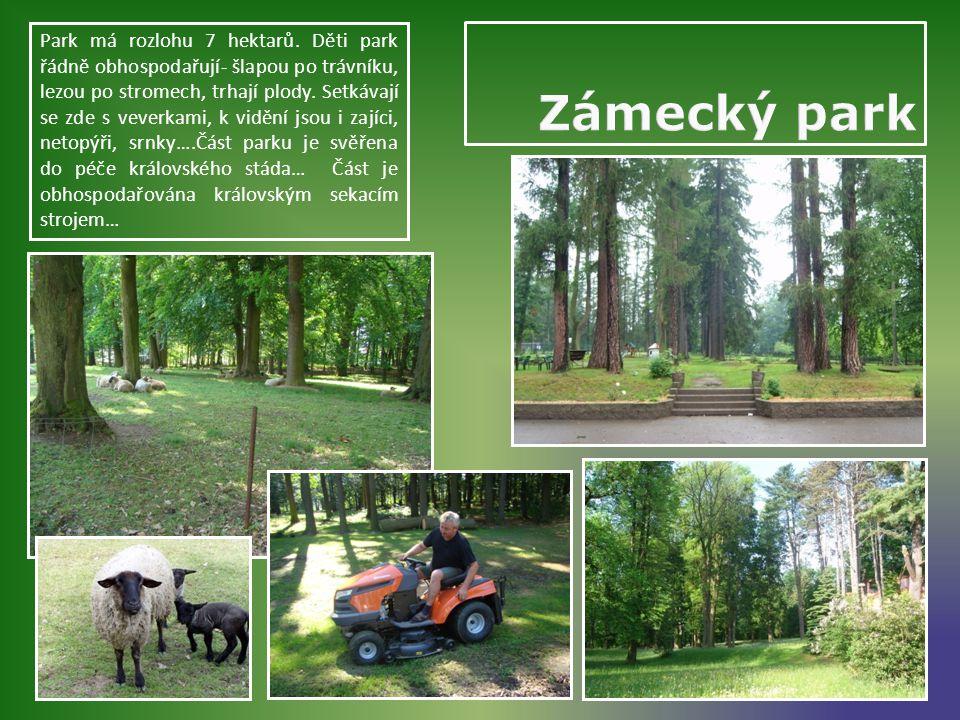 Park má rozlohu 7 hektarů.