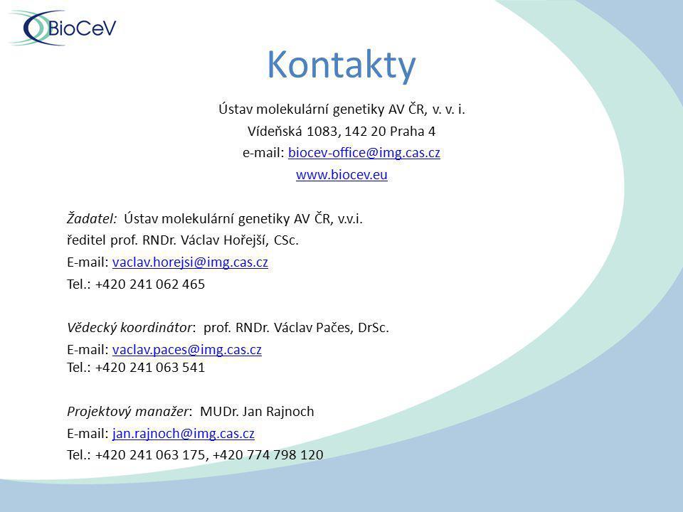 Kontakty Ústav molekulární genetiky AV ČR, v. v. i.