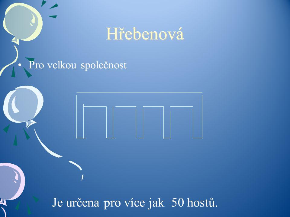 Hřebenová Pro velkou společnost Je určena pro více jak 50 hostů.