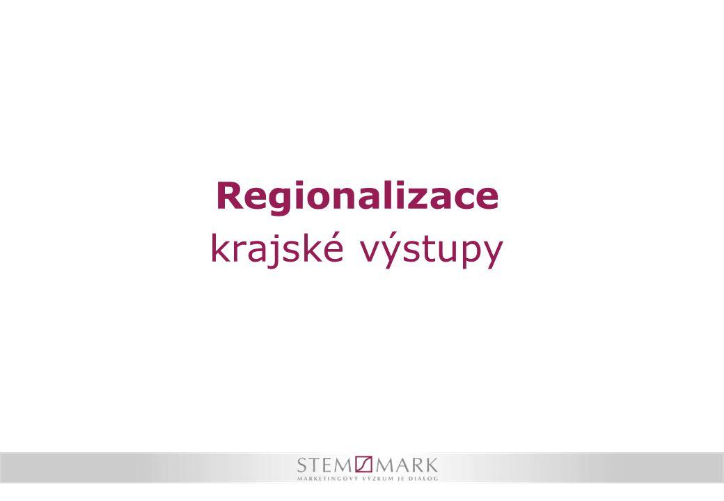 Regionalizace krajské výstupy