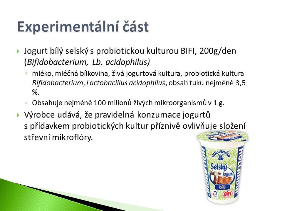  Jogurt bílý selský s probiotickou kulturou BIFI, 200g/den (Bifidobacterium, Lb. acidophilus) ◦ mléko, mléčná bílkovina, živá jogurtová kultura, prob
